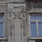 Detail der Fassadengestaltung
